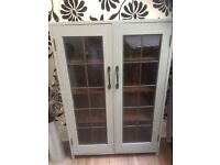 Up cycled floor standing display cabinet shabby chic