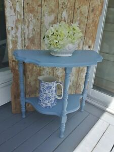 Cottage Style Half Moon Table