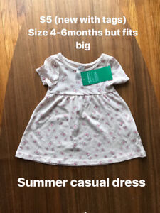 4-6 month summer casual baby dress