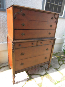 "Fabulous Tall (55"") Antique (c1925) Dresser"