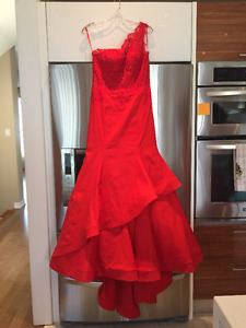 Wedding Dress, Mori Lee Gown, Classic red mermaid-style, size 10