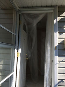 STORM DOOR INSTALLATION, Screen door Fixing Also Trim nail holes