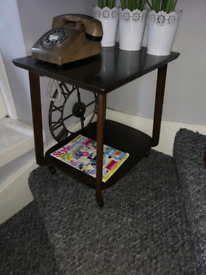 Vintage Retro Coffee Hall Table Side Table Cocktail Trolley