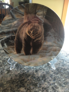 Dominion China Lmt. Plate, The Grizzly Bear, 1988 by Paul Krapf