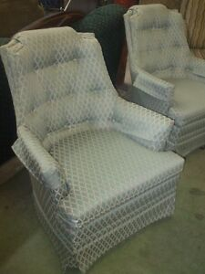 2 Beautiful Matching Button Back Chairs Delivery is Available