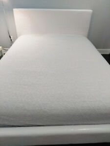 White double bed frame malm Ikea