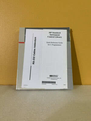 Hp E2090-90024 Standard Instrument Control Library Reference For C Programmers