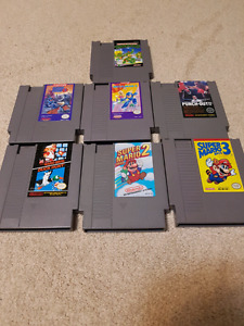 Classic nintendo nes system with great games