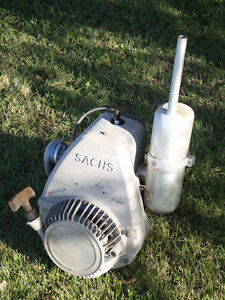 New? Vintage 293 cc Sachs Single Cyl. Snowmobile, Go Cart Motor