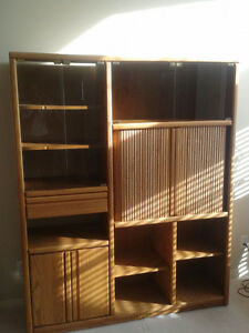 tv and shelving unit