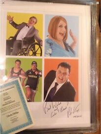 Peter Kay signed large collectable montage with POA
