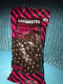 Gluten free dark chocolate coated nuts