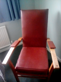 High back chair suitable for limited movement person
