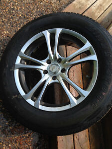 Summer tires with rims $800 OBO for all four