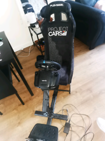 Logitech g29 ps4 wheel and playseat stand