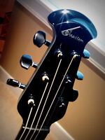 Ovation idea acoustic electric with Hard Shell Flight Case