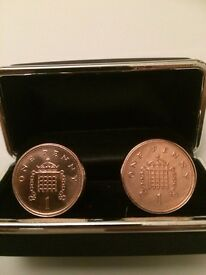 New penny cufflinks