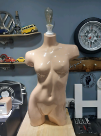 Upcycled Female mannequin torso lamp