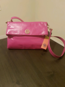 Brand New Tory Burch Purse, Cross-body,Magenta Leather, With Tag