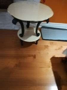 BEAUTIFUL WHITE MARBLE SIDE TABLES FOR $25, $65-Rich lookONE HA