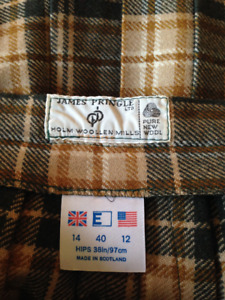 Vintage James Pringle Calf length kilt