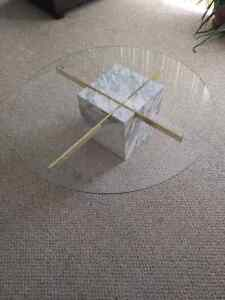 Marble Base Glass Top Coffee and End Tables Kitchener / Waterloo Kitchener Area image 1