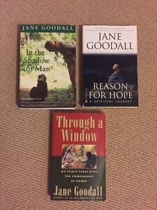 JANE GOODALL books for sale.