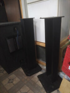 Speaker stands with cd rack