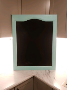 Teal turquoise blue chalkboard