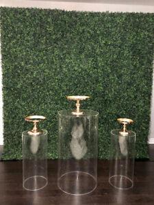 Dessert Table Rentals/ Backdrops/ Flower Walls / Plinths
