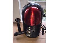Red morphy Richards coffee machine