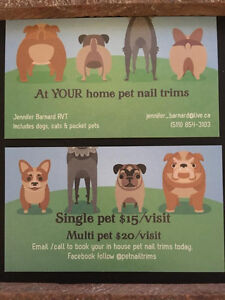 At YOUR home pet nail trims London Ontario image 1