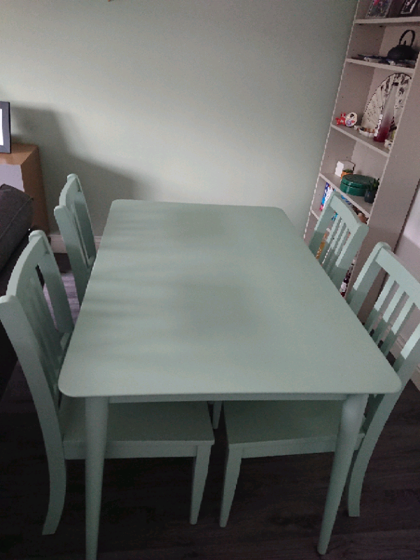 Sadie Dining Table 4 Chairs Duck Egg In Scotstoun Glasgow Gumtree