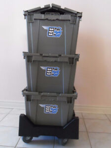Need Moving Boxes? Low Cost Rental Moving Bins on a Dolly.