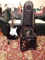 Austin electric guitar, amp and accessories