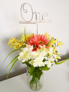 Personalized Wedding Hangers, Cake Toppers, and Table Numbers St. John's Newfoundland image 4