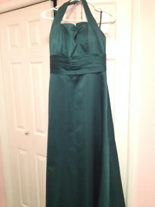Green Bridesmaid or Prom Dress