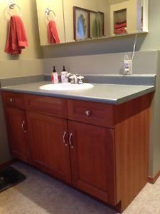 Bathroom Vanity, Sink, Faucet, Countertop, Lights & Fixtures