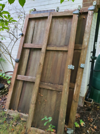 Large solid wood doors, from garage