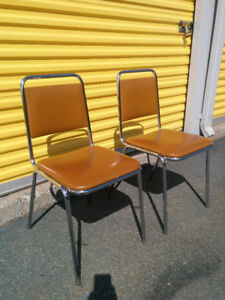 2 Vintage / Retro Chrome Chairs