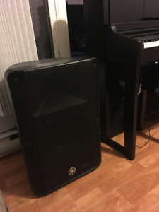 Fs two Yamaha DBR 15 monitors with heavy duty stands.