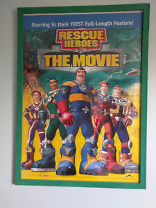 Rescue Heroes framed poster