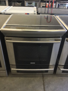 "Electrolux 31"" Black Glass Top Stove Range"