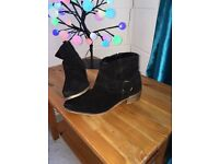 Dune Real Suede Ankle Boots 5