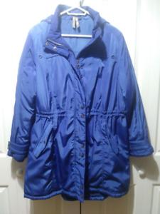 Ladies royal blue winter coat