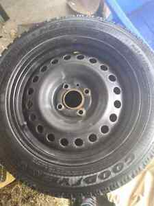 Goodyear  tires with 4 bolt  Steele rims  500 obo