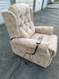 Electric rise & recline mobility armchair, local delivery possible