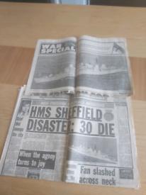 Newspaper hms Sheffield
