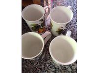 Bone china mugs (4)
