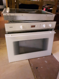 Bosch built in oven and counter top range
